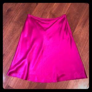 CLOSET CLEAR OUT! Fuchsia Silk Ralph Lauren Skirt